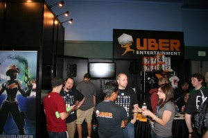 Uber Ent booth with Super Monday Night Combat